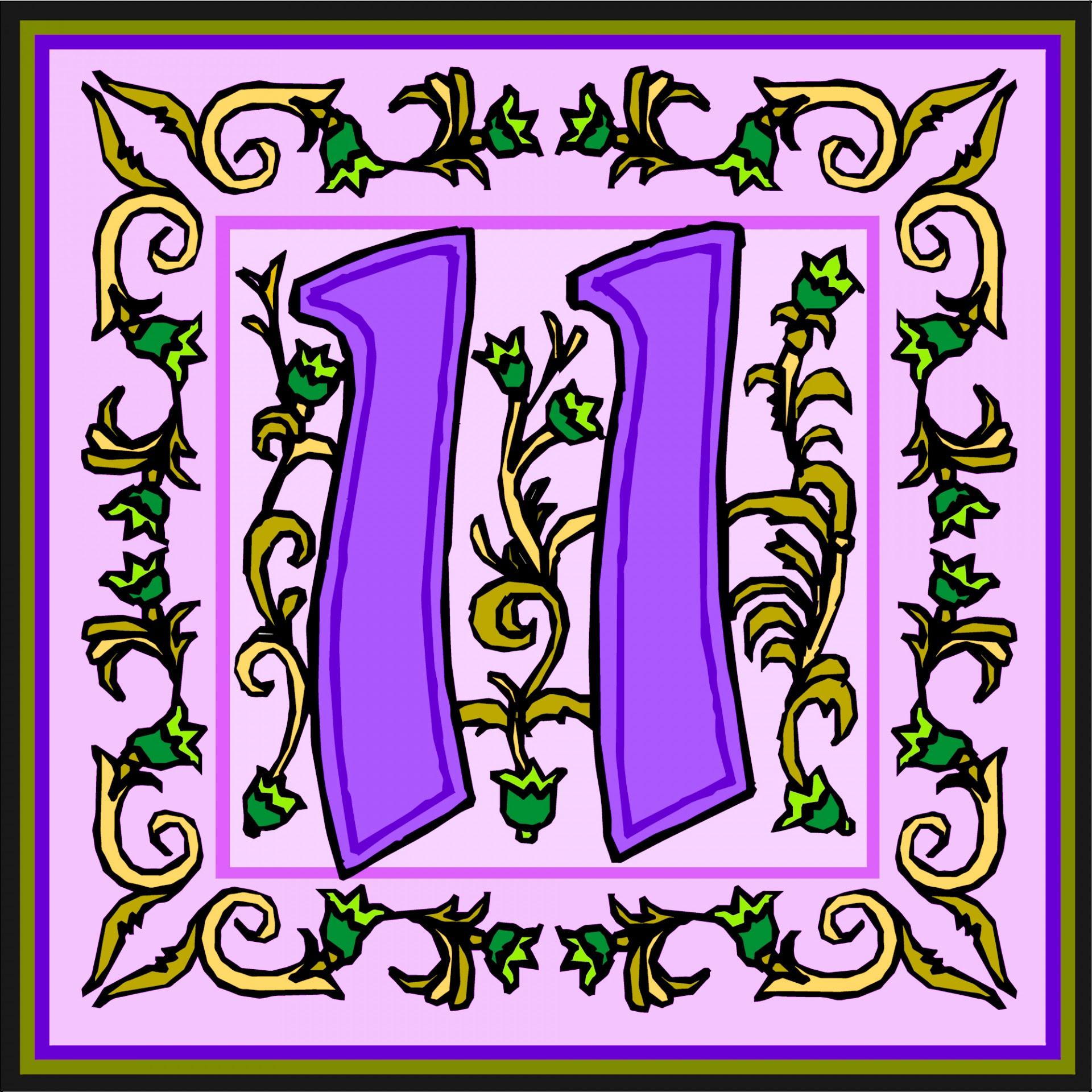 Flowery Purple Number 11