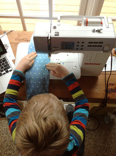 Tips for Sewing with Kids - at machine