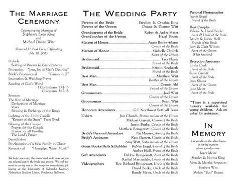 Christian Wedding Ceremony Program