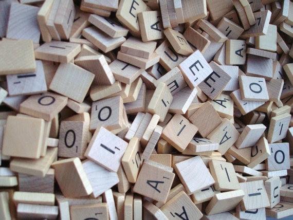 Scrabble Tile Vowels lot of 100 plus