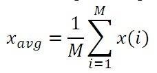 M-point moving average filter MATLAB Program
