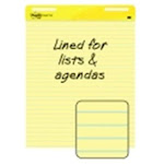 Post-it Sticky Note 25 x 30 in. Yellow Self-Stick Easel Pad, Lined - 30 Sheets & Pad, Pack 2, Size: 30 x 25