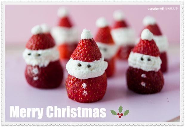 超可愛「迷你聖誕老人」甜點!