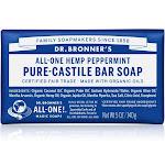 Dr Bronners Bar Soap, Pure-Castile, All-One Hemp Peppermint - 5 oz