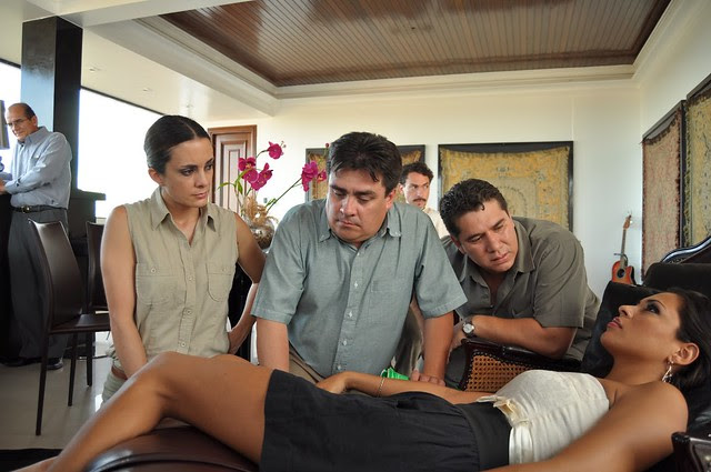 Yéssica Mouton actuando en una película