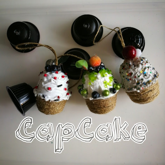 Cupcakes from cofee capsules by Capcakeornaments