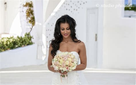 Bella Hair Stylist Santorini Island   Weddings on