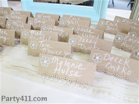 Summer Wedding Guest Book and Place Cards   Daily Party Dish