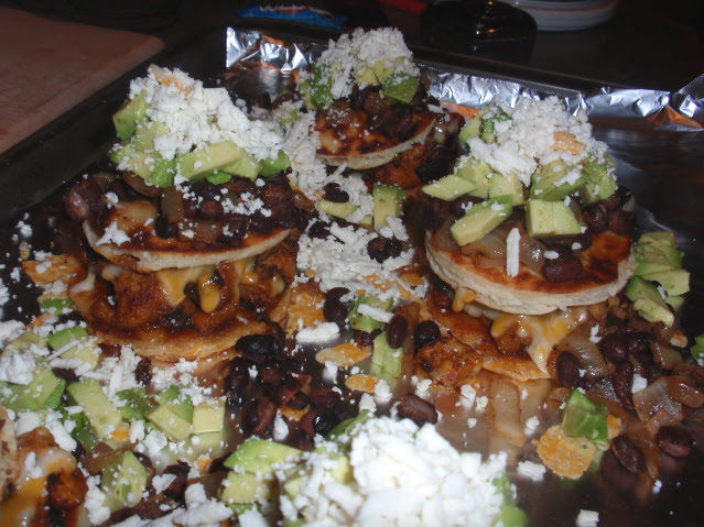 add avocado and cotija to the top