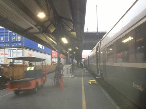 On the platform