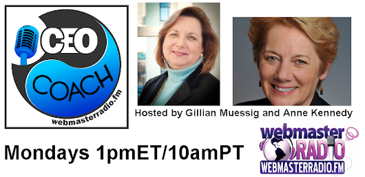 "WebmasterRadio.FM on Twitter: ""Learn How to Conquer Your Fear of Sales on  New #CEO Coach w/ @SEOmom & @AnneKennedy oming up Today at 1pmET/10amPT """