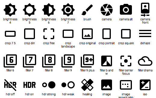 Google Makes Available 750 Icons for Designers & Developers: All Open Source  |  Open Culture