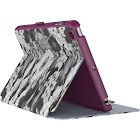 Speck StyleFolio Vegan Leather Flip Cover for iPad Mini 4 - Vintage Bouquet Grey/Boysenberry Purple