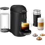 Nespresso - Breville VertuoPlus Limited Edition Coffee Maker and Espresso Machine with Aeroccino Milk Frother - Matte Black