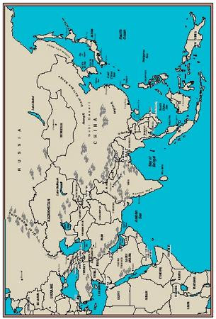 Asia Bodies Of Water Map : bodies, water, Bodies, Water, World, Atlas