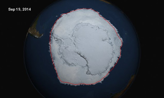 Sea ice surrounding Antarctica reaches record levels