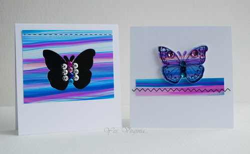 butterfly with stitching