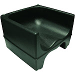 Update International PP-BC/BK Black Plastic Booster Chair