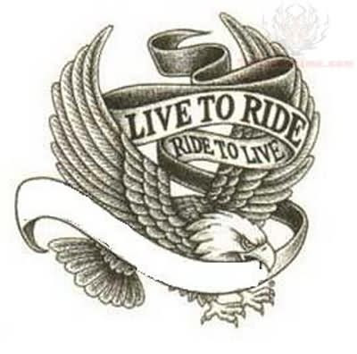 Live To Ride Ride To Live Harley Davidson Tattoo