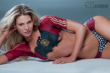 Sarah Brander Soccer Body Paint