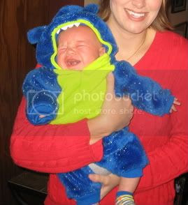 Mommy & her crying monster on Halloween!