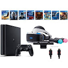 Sony PlayStation VR Start Bundle 10 Items:VR Start Bundle,PS4 Slim- Uncharted 4,7 VR Game Disc Until Dawn:Rush of Blood, EVE:Valkyrie,Battlezone,Batman:Ar