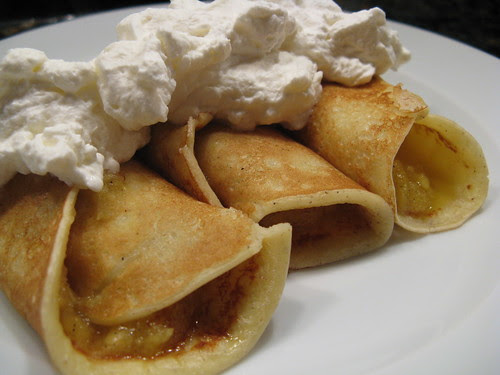 Swedish Pancakes with Mango Coulis