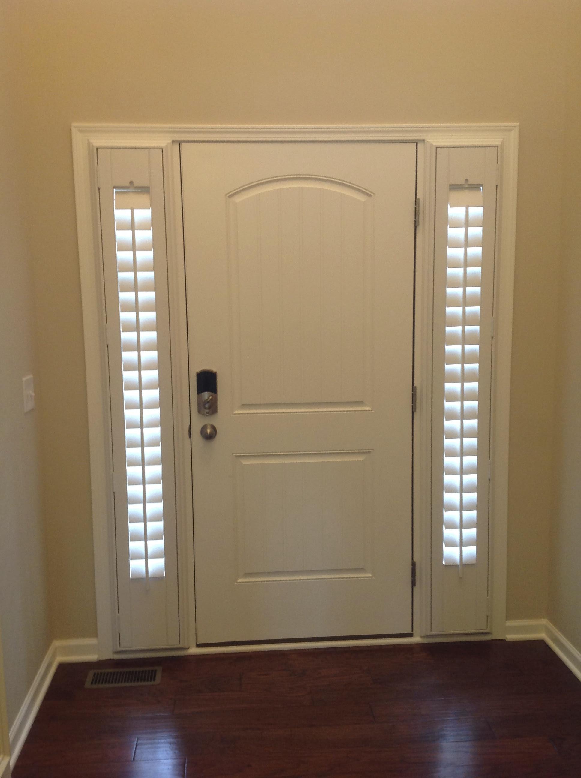 Entry Door Sidelight Window Shutters Cleveland Shutters