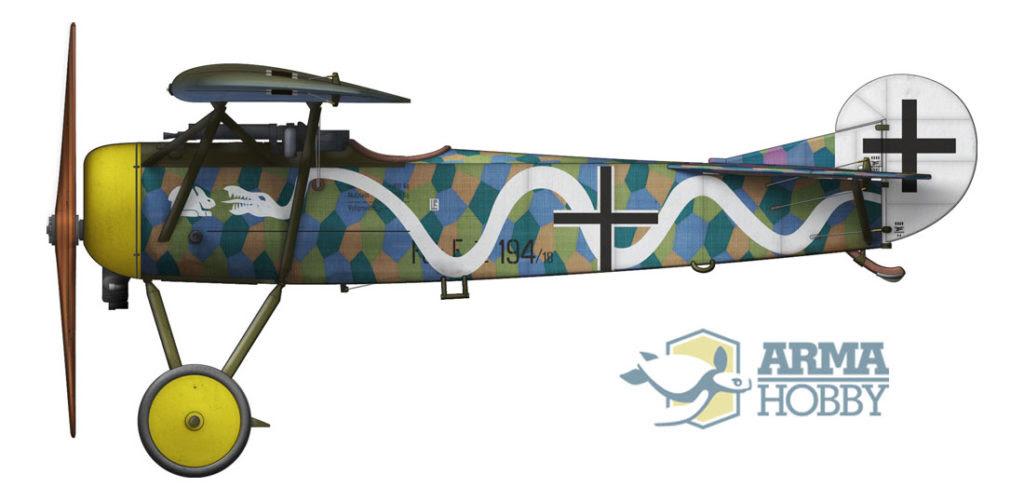 Fokker E.V wąż niemiecki