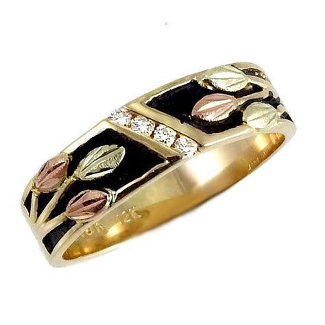 Landstrom's® Women's 10k Black Hills Gold Antiqued Wedding