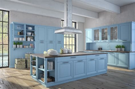 Blue Kitchen Cabinet Paint Ideas