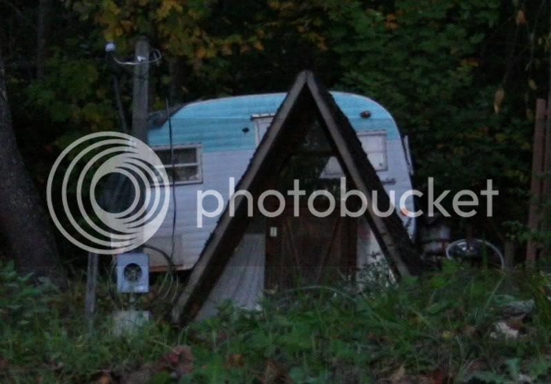 old school 50s caravan trailer
