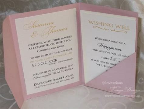 Gold And Pink Wedding Pocketfold INVITATIONS 24 Invites