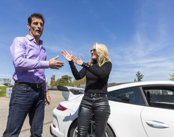 Quick Laps With Mark Webber Tracy Austin And Samantha