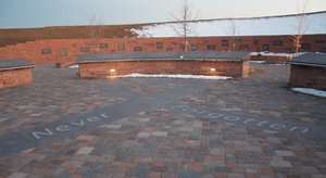 The Columbine High School Memorial, located in...