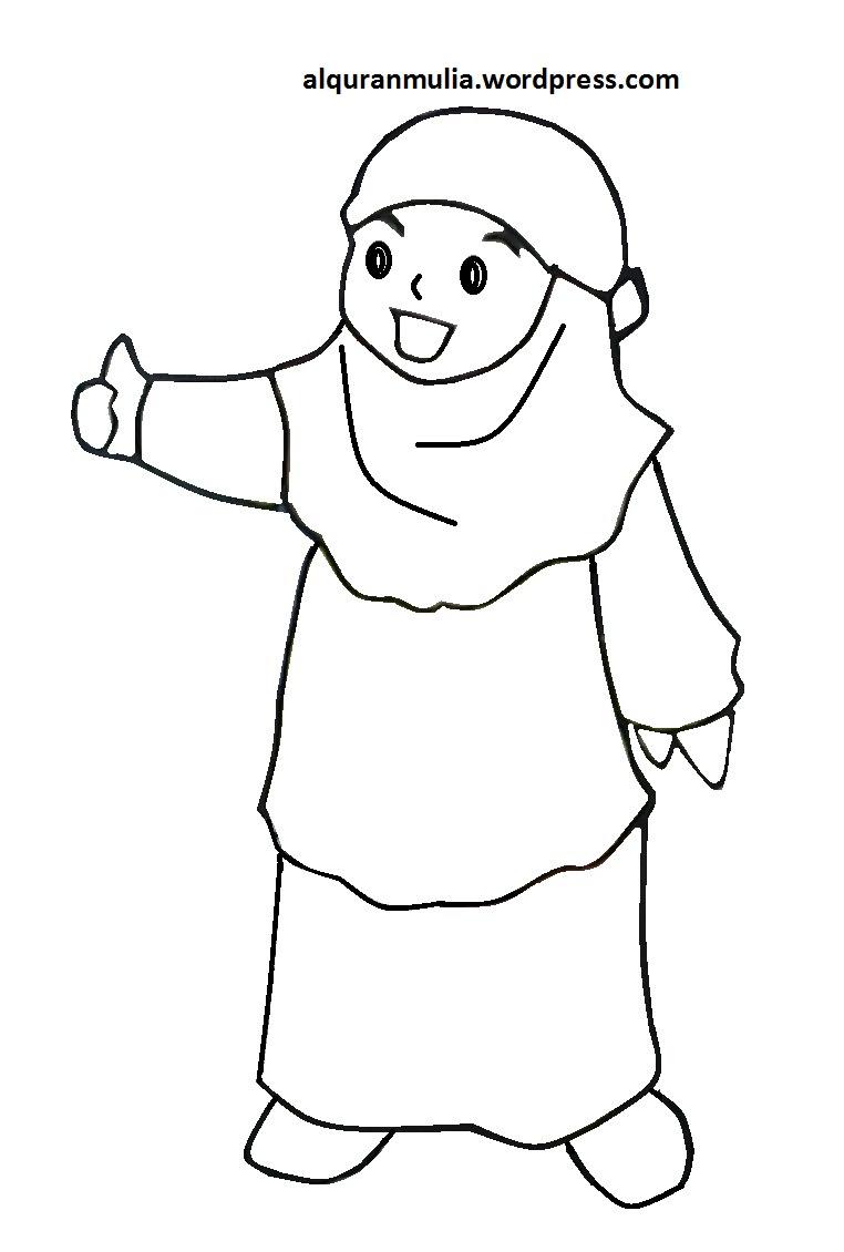 Mewarnai Gambar Mewarnai Gambar Princess Muslimah Auto Electrical