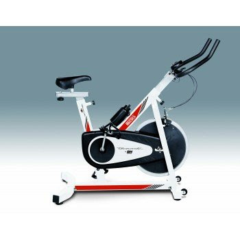 Tecnovita by BH YF95 SPRINT 500 Indoor cycling bike. Indoor exercise bicycle. Cardio fitness aerobic workout trainer. Home training bike. LCD monitor. White