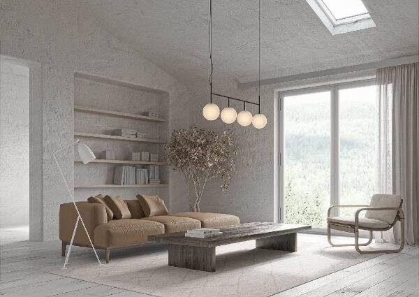 Διακόσμηση τοίχων με υφή και απλό χρώμα