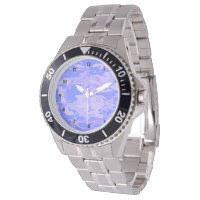 Light Blue Camouflage Mens Stainless Steel Watch