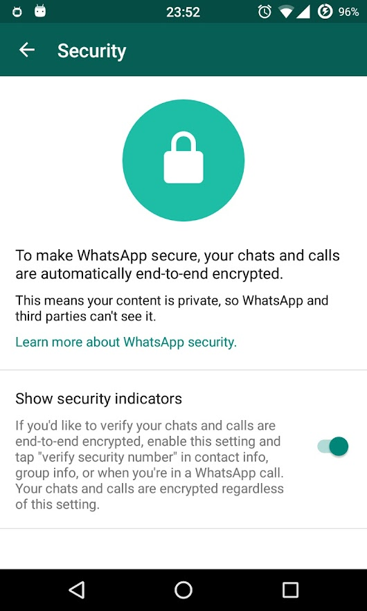 WhatsApp end-to-end encryption [ illegal in India ] - AndroidWiz