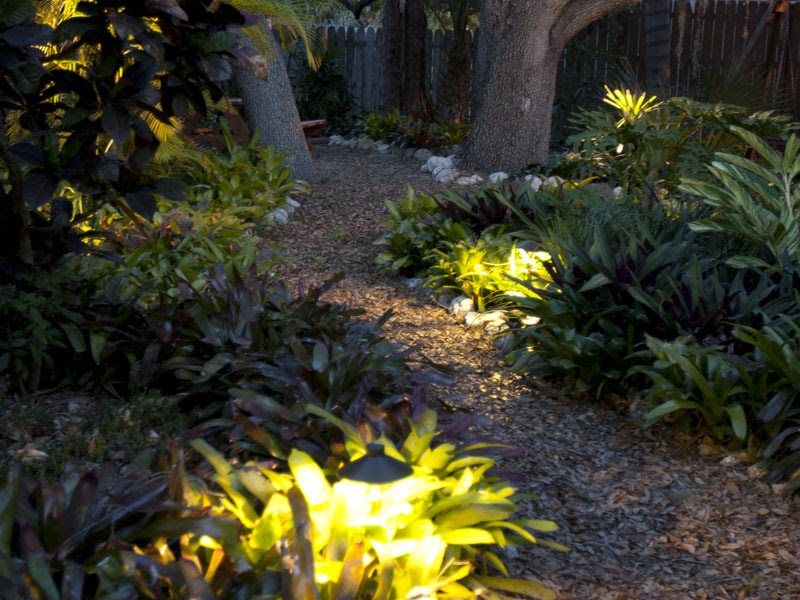 outdoor-Lighting Outdoor Landscapes with Landscape Lighting for