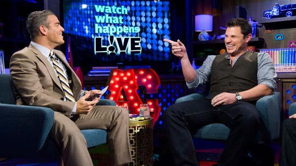 Nick Lachey appears during an interview on Watch What Happens Live on May 7, 2013. - Provided courtesy of Bravo