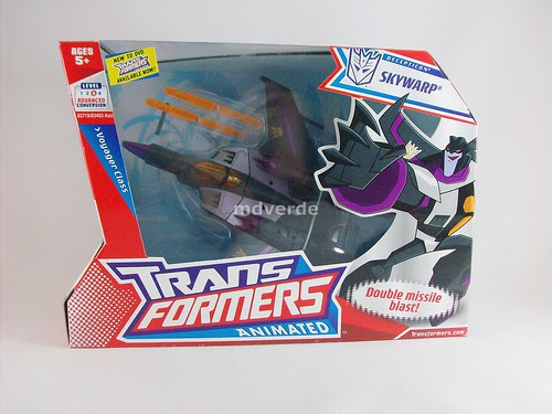 Transformers Skywarp Animated Voyager - caja
