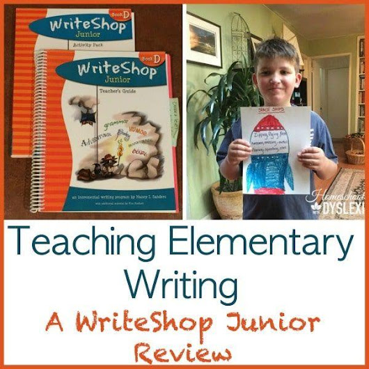 Teaching Elementary Writing: WriteShop Junior Review | Homeschooling with Dyslexia