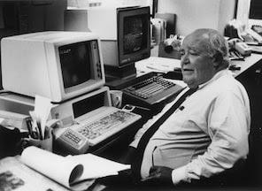 1992 - Original Filename: germond.jpg. 92 file photo of Jack Germond. - Photo was taken by then staff photographer Harry Naltchayan.
