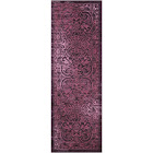 Maples Scroll Tufted Runner Rugs, Purple