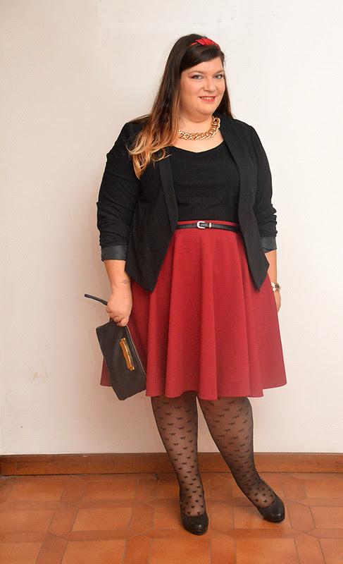 outfit borgogna e nero4