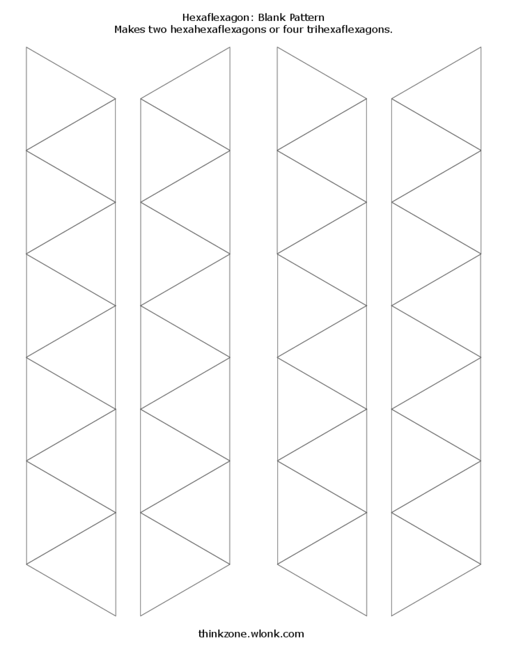 blank and decorated hexahexaflexagon template l2