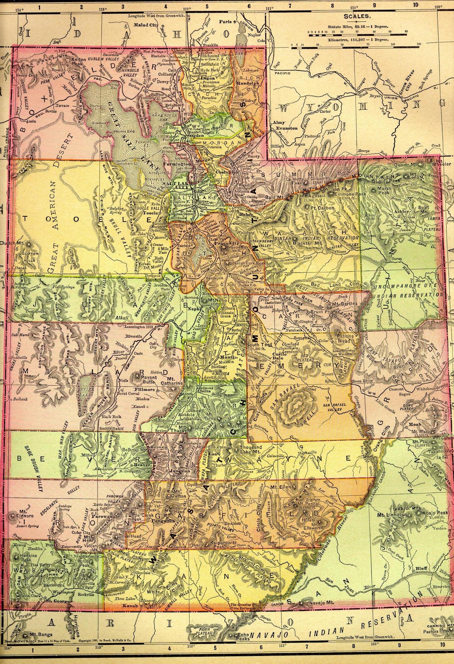 Utah Maps Utah Digital Map Library Table Of Contents