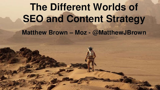 The Different Worlds of SEO and Content Strategy